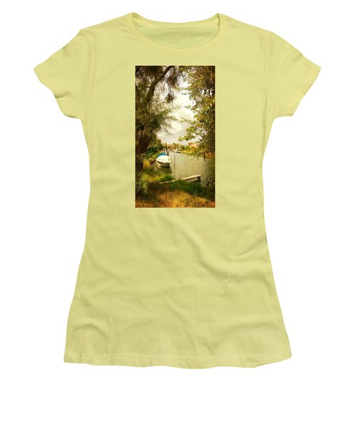 Women's T-Shirt (Junior Cut) featuring the photograph Malamocco Canal No1 by Anne Kotan