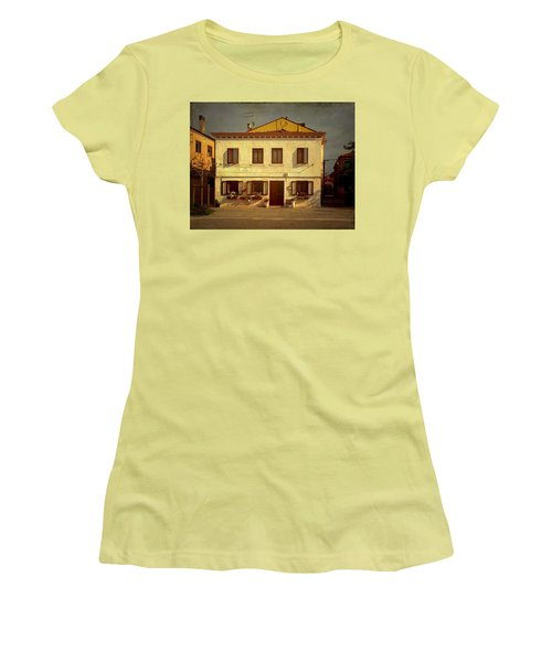 Women's T-Shirt (Junior Cut) featuring the photograph Malamocco House No1 by Anne Kotan