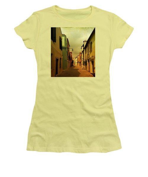 Women's T-Shirt (Junior Cut) featuring the photograph Malamocco Perspective No1 by Anne Kotan
