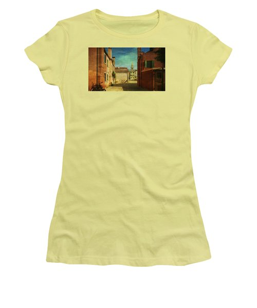 Women's T-Shirt (Junior Cut) featuring the photograph Malamocco Perspective No3 by Anne Kotan