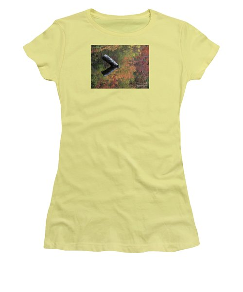 Malbourn Pond Abstract Women's T-Shirt (Athletic Fit)
