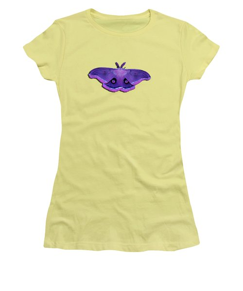 Women's T-Shirt (Junior Cut) featuring the photograph Male Moth Purple And Pink .png by Al Powell Photography USA