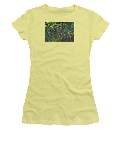 Mallard In The Marsh Women's T-Shirt (Junior Cut) by Suzy Piatt