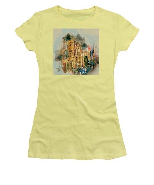 Maltese Street Women's T-Shirt (Athletic Fit)