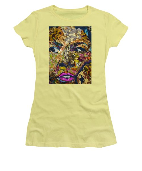 Women's T-Shirt (Junior Cut) featuring the tapestry - textile Mama's Watching by Apanaki Temitayo M