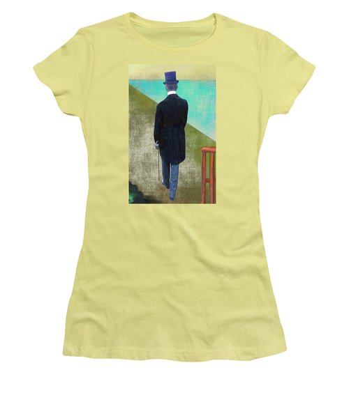 Man In Hat Women's T-Shirt (Junior Cut)