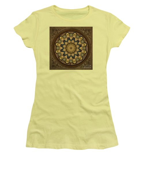 Mandala Earth Shell Women's T-Shirt (Athletic Fit)