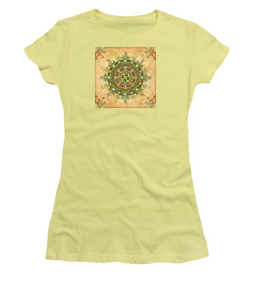 Mandala Flora Women's T-Shirt (Athletic Fit)