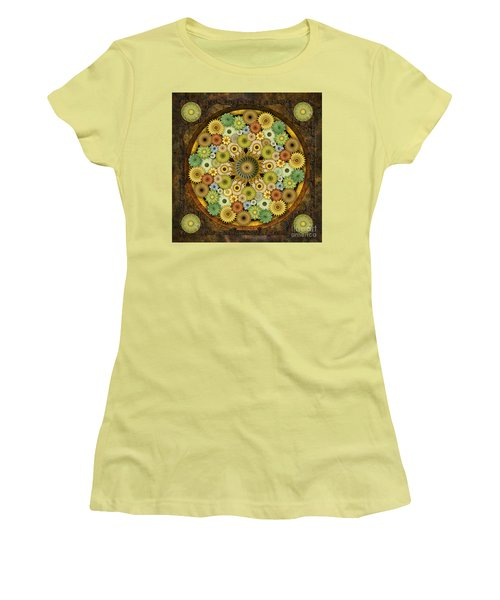 Mandala Stone Flowers Women's T-Shirt (Athletic Fit)