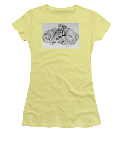 Mango's Pups Women's T-Shirt (Athletic Fit)