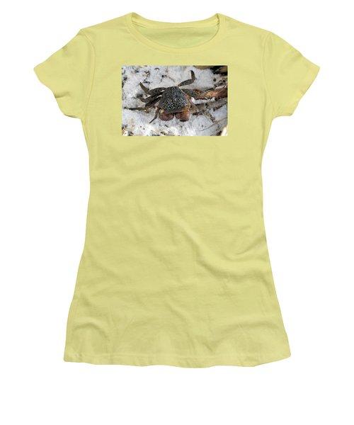 Mangrove Tree Crab Women's T-Shirt (Junior Cut) by Doris Potter