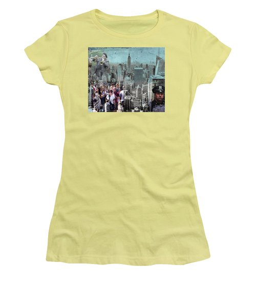 Manhattan Women's T-Shirt (Junior Cut) by Judi Saunders