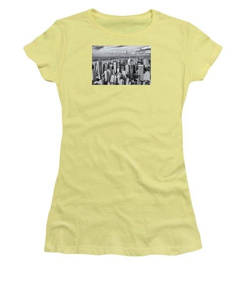 Women's T-Shirt (Junior Cut) featuring the photograph Manhattan  by Sabine Edrissi