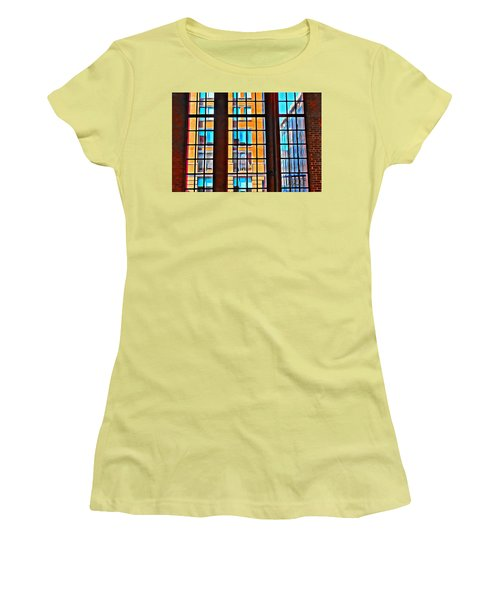 Manhattan Windows Women's T-Shirt (Junior Cut) by Joan Reese