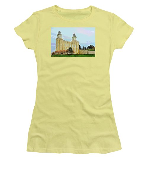 Manti Temple Women's T-Shirt (Athletic Fit)
