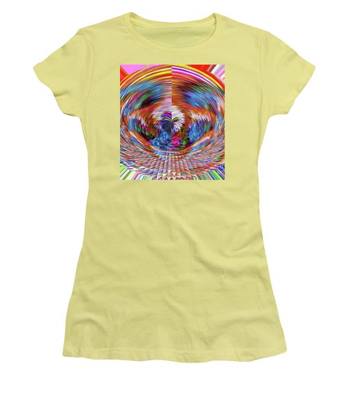 Women's T-Shirt (Junior Cut) featuring the digital art Many Colors Of Love  by Annie Zeno
