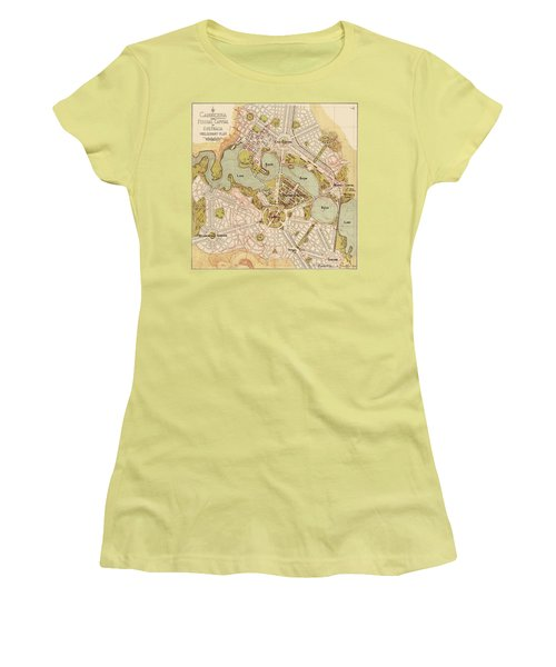 Map Of Canberra 1913 Women's T-Shirt (Junior Cut) by Andrew Fare