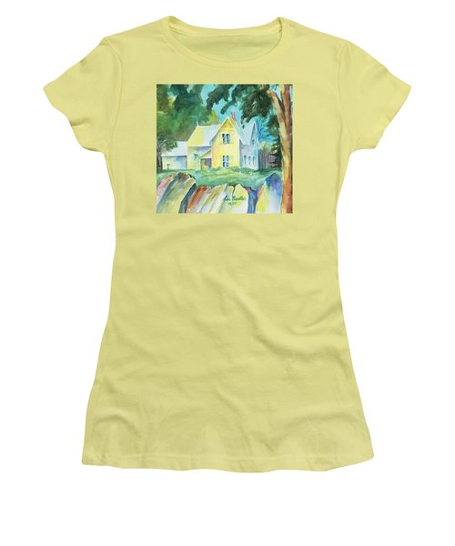 Marblehead Cottage Women's T-Shirt (Junior Cut) by Lee Beuther