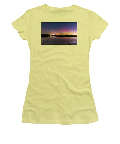 March 6 Aurora Over Scarborough Marsh  Women's T-Shirt (Athletic Fit)