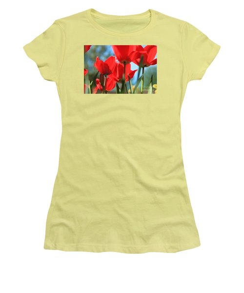 March Tulips Women's T-Shirt (Junior Cut) by Jeanette French