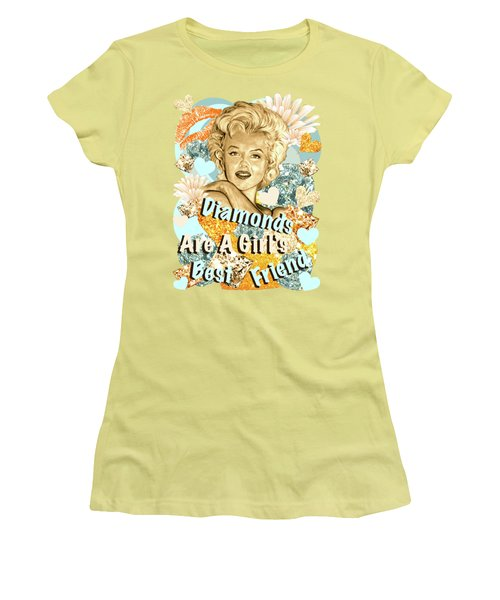 Marilyn Diamonds Are A Girls Best Friend Women's T-Shirt (Junior Cut) by Gitta Glaeser