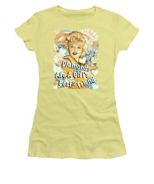 Marilyn Diamonds Are A Girls Best Friend Women's T-Shirt (Junior Cut)