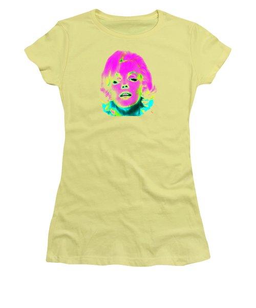 Marilyn Monroe In Psychedelic Color Women's T-Shirt (Junior Cut) by Kim Gauge