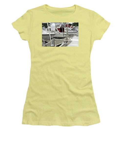 Women's T-Shirt (Junior Cut) featuring the photograph Marina Stuff by Yurix Sardinelly