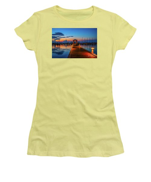 Marina Sunrise Women's T-Shirt (Athletic Fit)