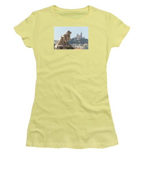 Marseille-saint-charles Statue, France Women's T-Shirt (Athletic Fit)