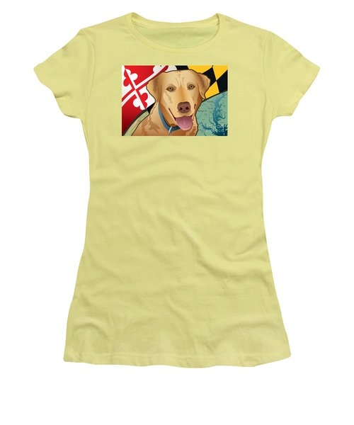 Maryland Yellow Lab Women's T-Shirt (Athletic Fit)