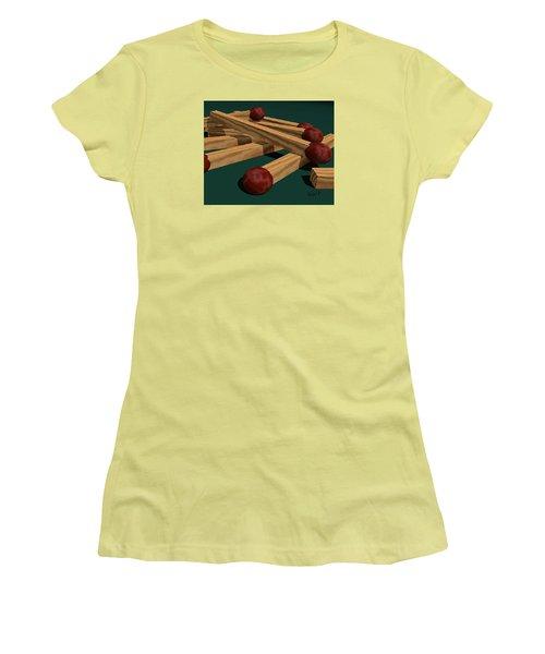 Matches Women's T-Shirt (Junior Cut) by Walter Chamberlain