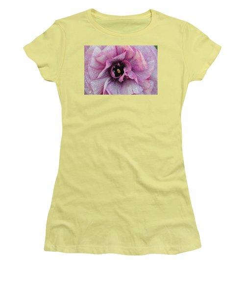Women's T-Shirt (Junior Cut) featuring the photograph Mauve Beauty by Tamara Bettencourt