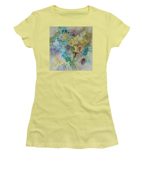 Women's T-Shirt (Junior Cut) featuring the painting May Flowers by Joanne Smoley