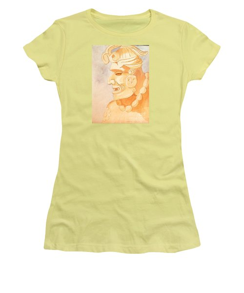 Mayan Warrior Women's T-Shirt (Junior Cut) by Fred Jinkins