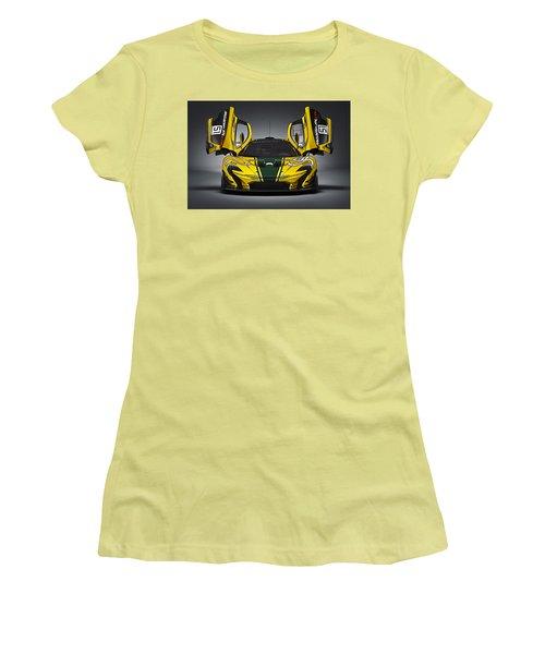Mclaren P1 Gtr Women's T-Shirt (Junior Cut) by Thomas M Pikolin