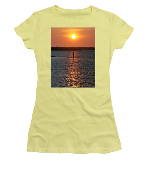 Women's T-Shirt (Junior Cut) featuring the photograph Me Time by John Glass