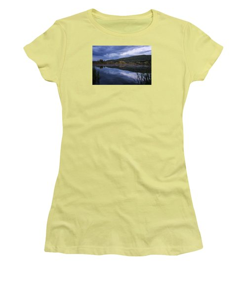 Women's T-Shirt (Junior Cut) featuring the photograph Meadows Dusk by Tom Singleton