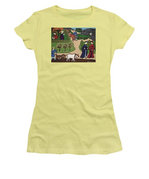 Medieval Fall Women's T-Shirt (Junior Cut) by Stephanie Moore