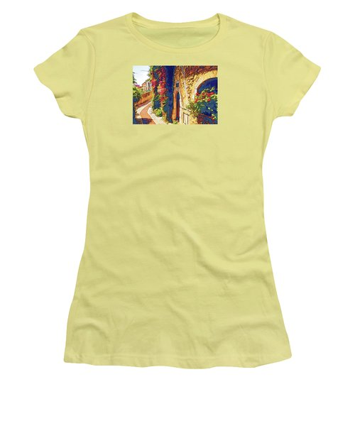 Medieval Saint-paul-de-vence Women's T-Shirt (Athletic Fit)