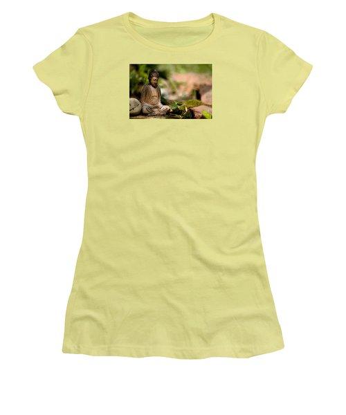 Women's T-Shirt (Junior Cut) featuring the photograph Meditation by Jean Bernard Roussilhe