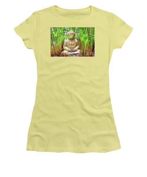 Meditation Women's T-Shirt (Junior Cut) by Ray Shrewsberry