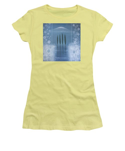 Women's T-Shirt (Junior Cut) featuring the painting Meditation by Tone Aanderaa