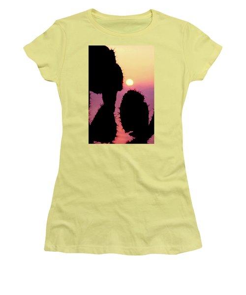 Mediterranean Sunrise Women's T-Shirt (Junior Cut) by Robert J Sadler