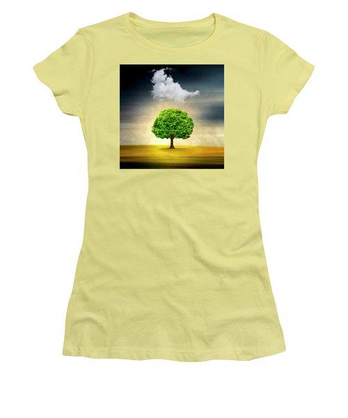Medusa Rain Women's T-Shirt (Athletic Fit)