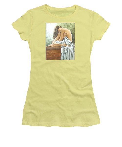 Melancholy Women's T-Shirt (Junior Cut) by Natalia Tejera