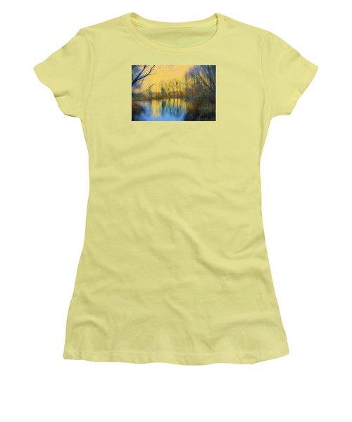Mellow Yellow Women's T-Shirt (Junior Cut) by John Rivera
