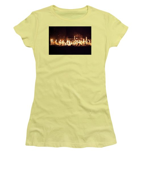 Memorial Candles Women's T-Shirt (Junior Cut) by Yoel Koskas