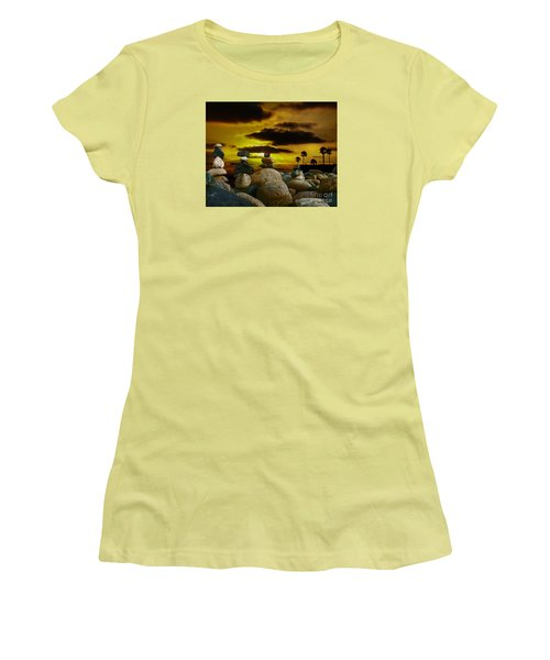 Women's T-Shirt (Junior Cut) featuring the digital art Memories In The Twilight by Rhonda Strickland