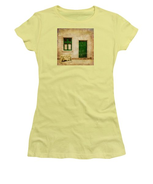 Women's T-Shirt (Junior Cut) featuring the painting Memories Of Irish Green by Bellesouth Studio